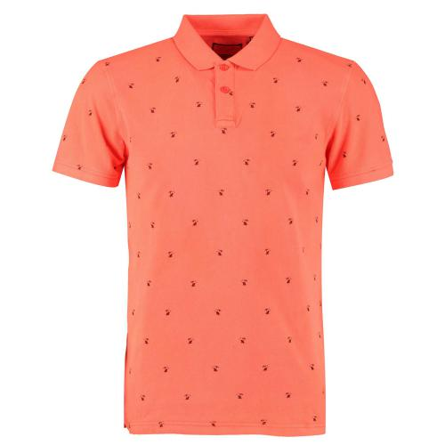 Petrol - Polo Homme orange imprimé  - Petrol mode homme