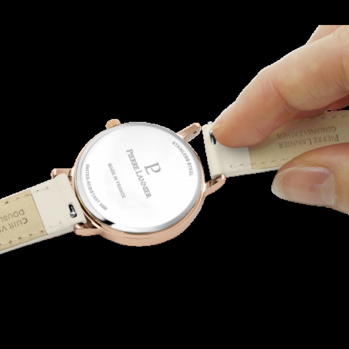 montre femme pierre lannier bracelet cuir