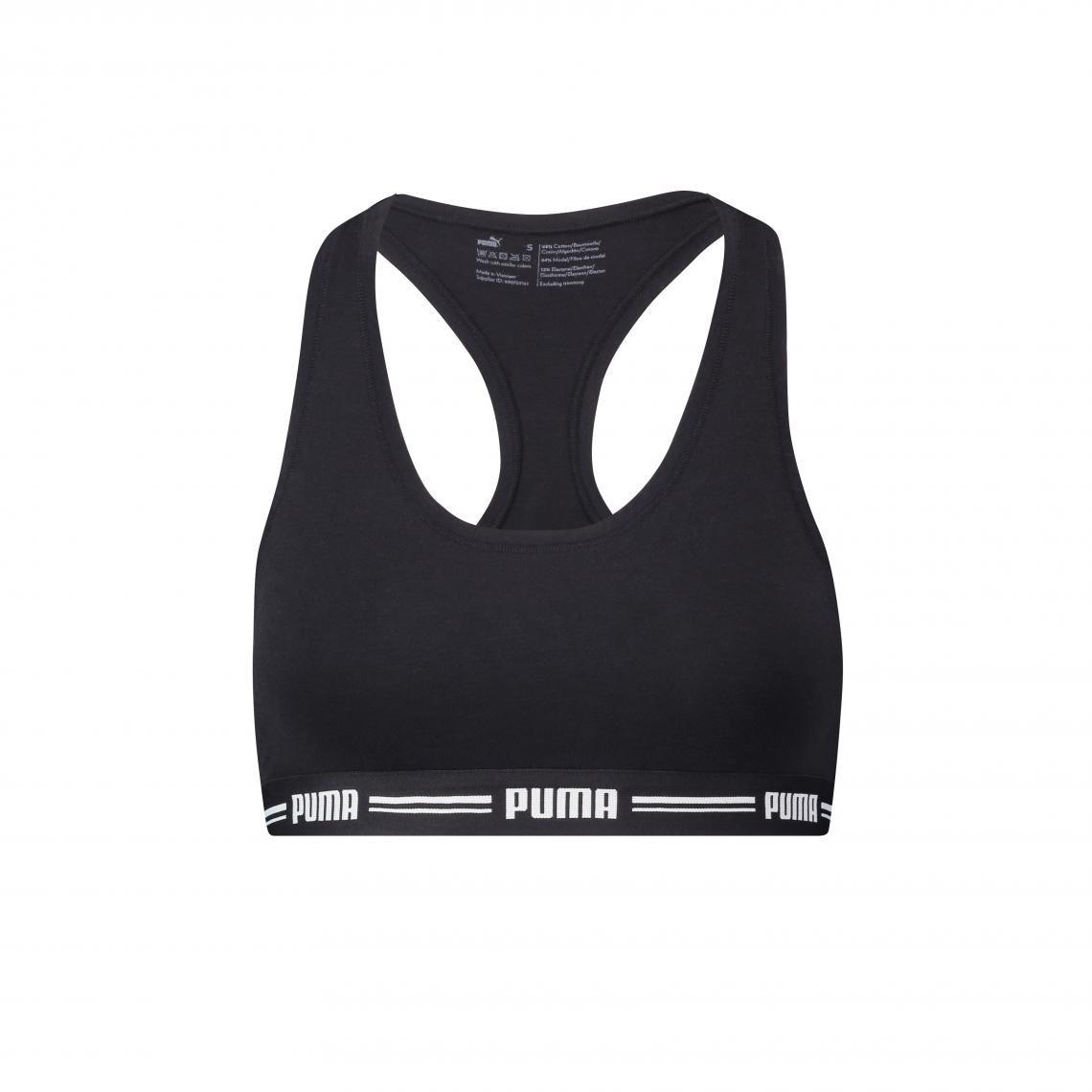 Brassière sans armatures Noire Puma - Puma femme - Modalova