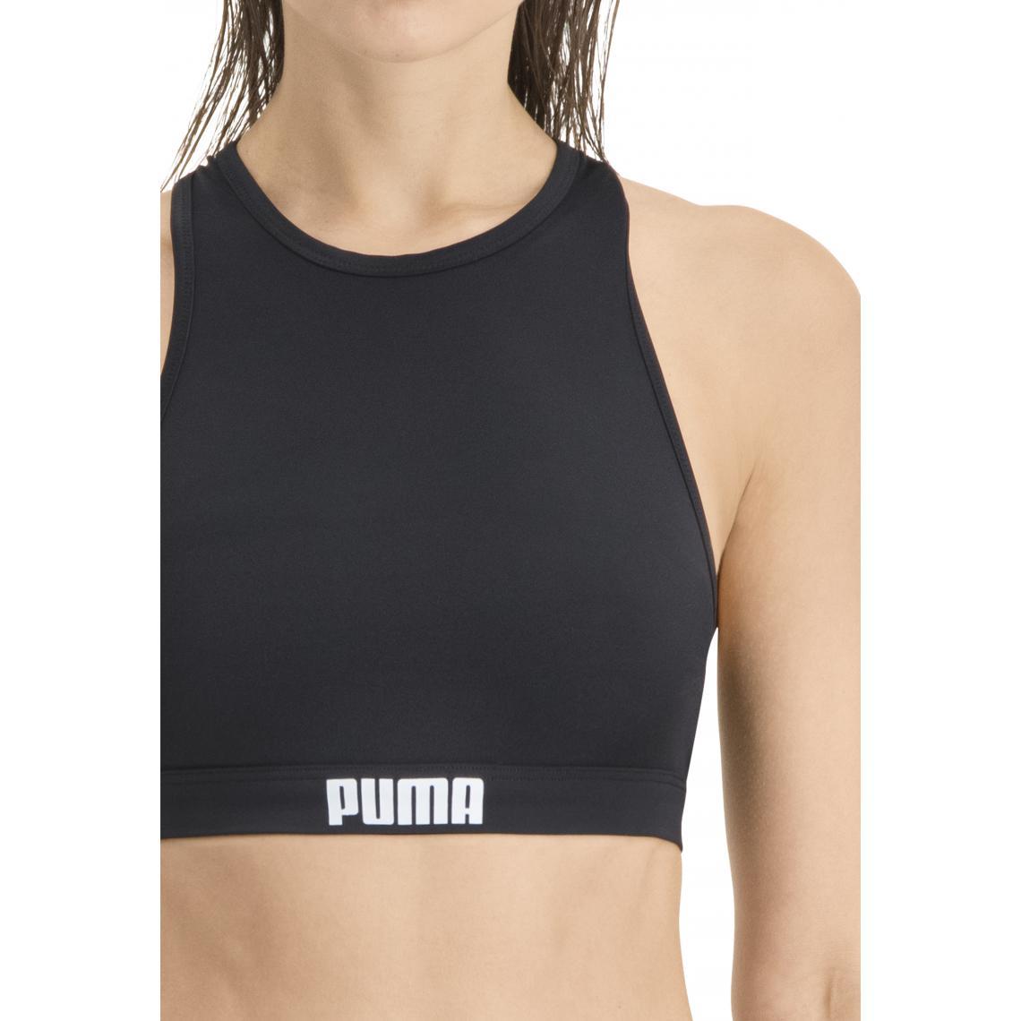 Haut de Maillot de Bain brassière Noir Puma - Puma femme - Modalova