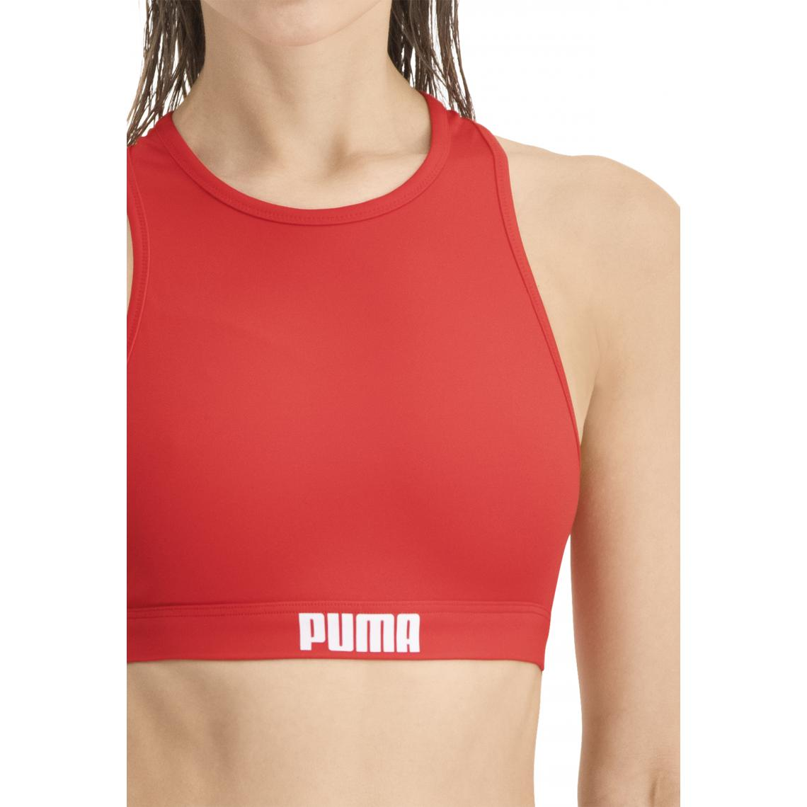 Haut de Maillot de Bain brassière Rouge Puma - Puma femme - Modalova