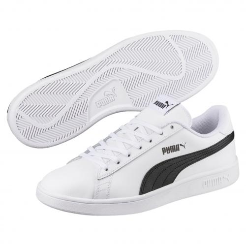 Puma - Baskets PUMA SMASH V2 L Puma White-Puma Black - Chaussures Puma