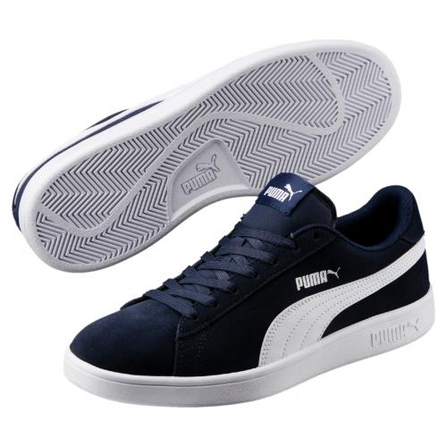 Puma - Baskets PUMA SMASH V2 Peacoat-Puma White - Chaussures Puma