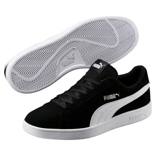 Puma - Baskets PUMA SMASH V2 Puma Black-Puma White-Puma Silver - LES ESSENTIELS HOMME Puma