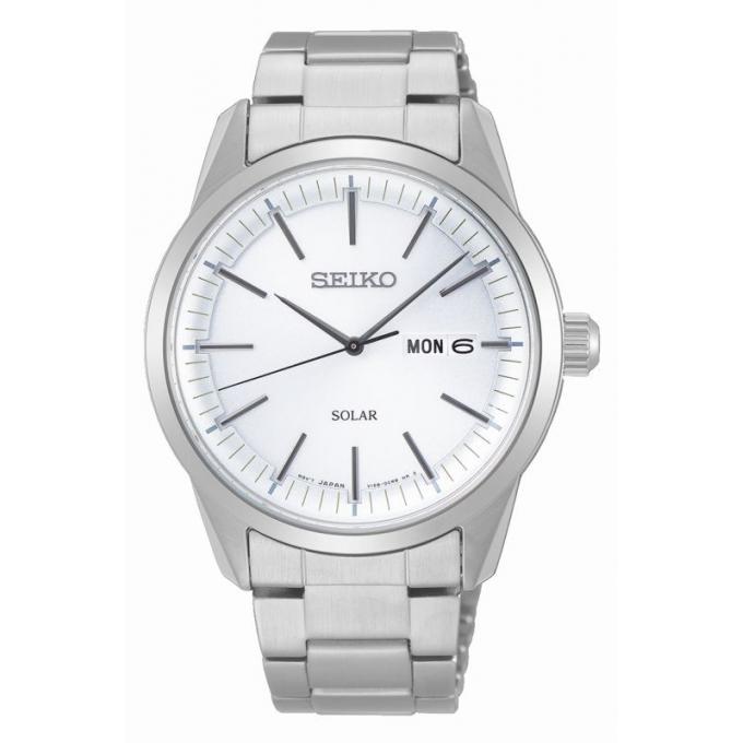 meilleur site web vente professionnelle coupe classique Montre Seiko SNE523P1 - CLASSIQUE HOMME Dateur Bracelet Acier Argent  Boîtier Acier Argent Homme