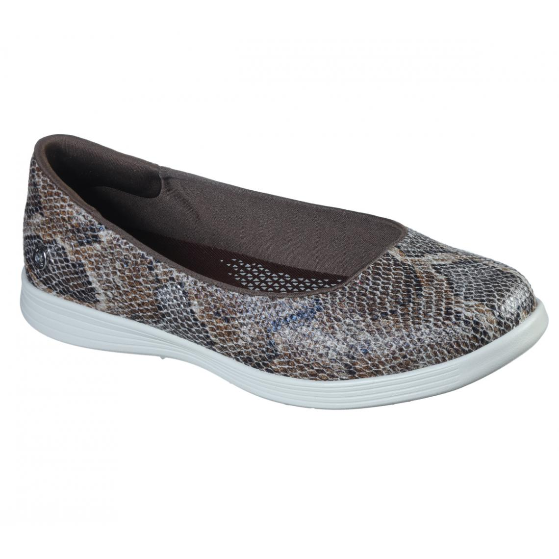 Promo : Baskets Basses Femme Marron - Skechers - Modalova