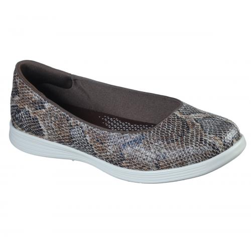 Skechers - Baskets Basses Femme Marron - Promo