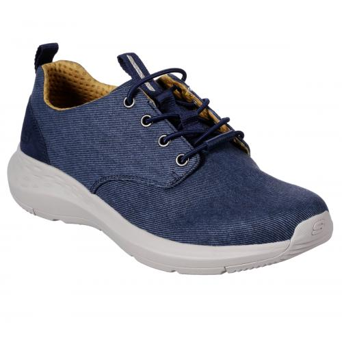 Skechers - Baskets Basses Homme Bleu - Baskets homme
