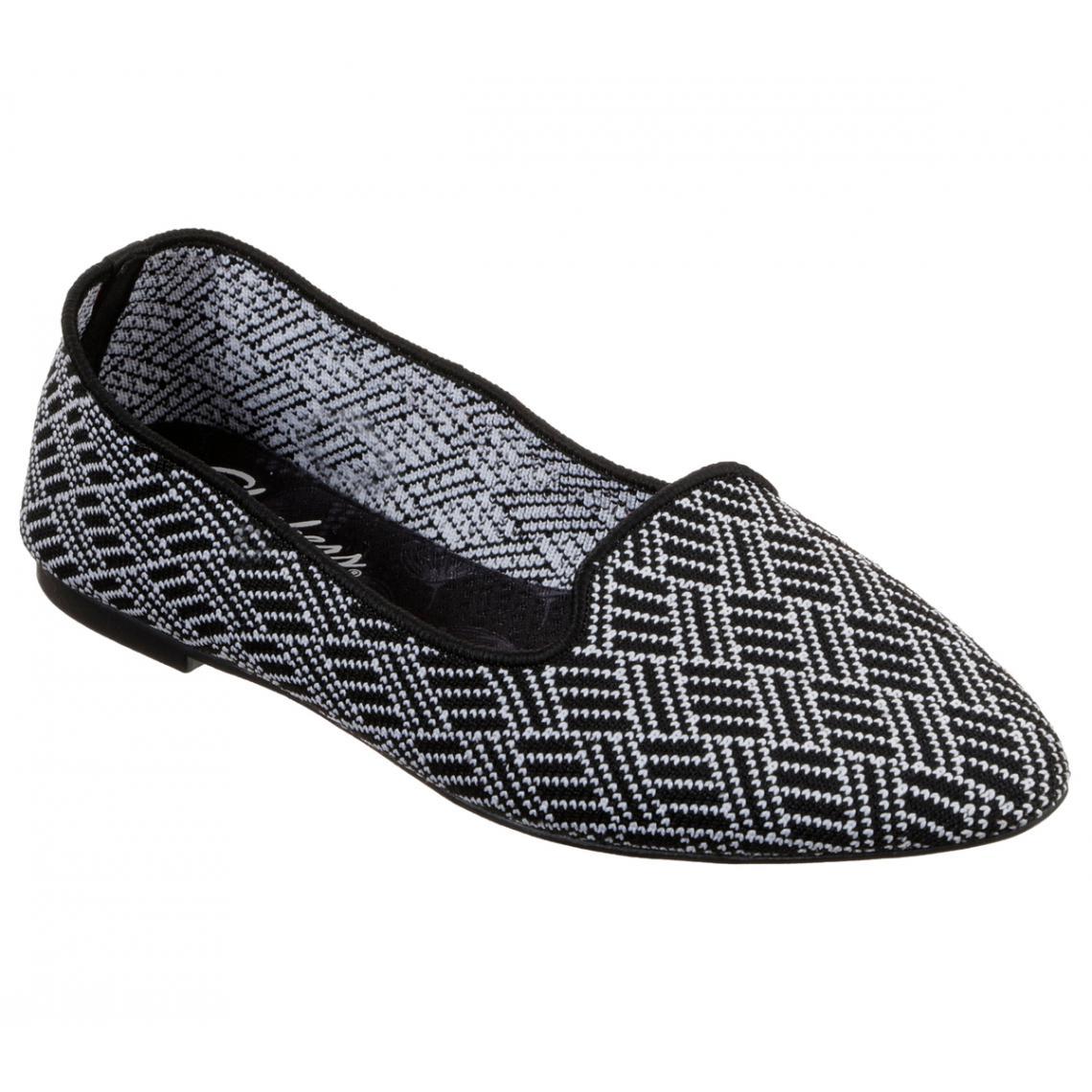 Promo : chaussures basses Noir/blanc cleo huntington - Skechers - Modalova