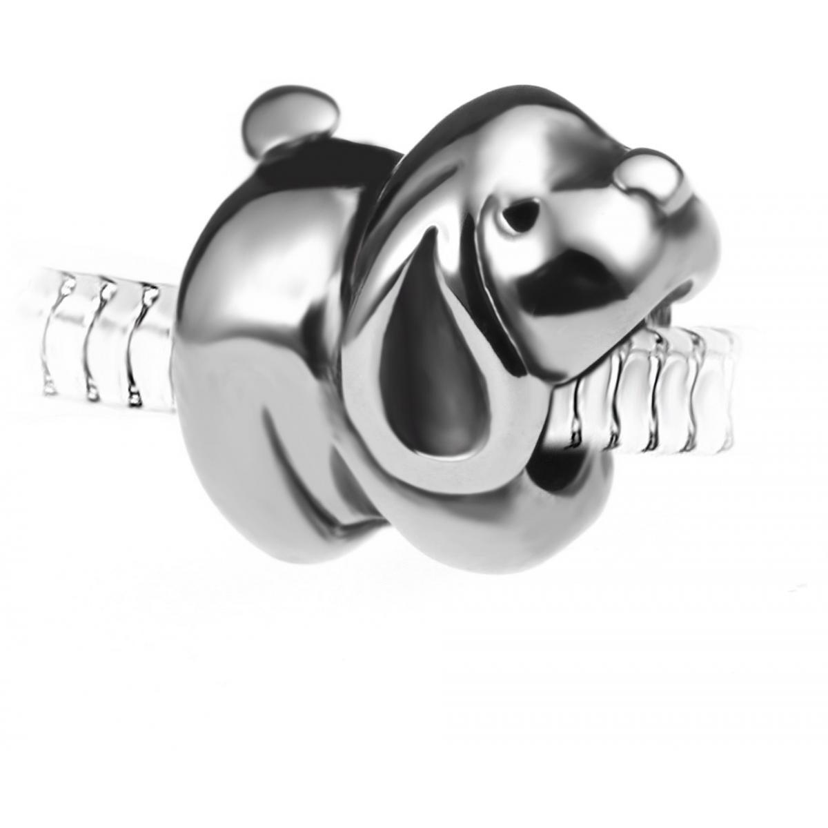 Promo : Charm perle chien en acier par SC Crystal