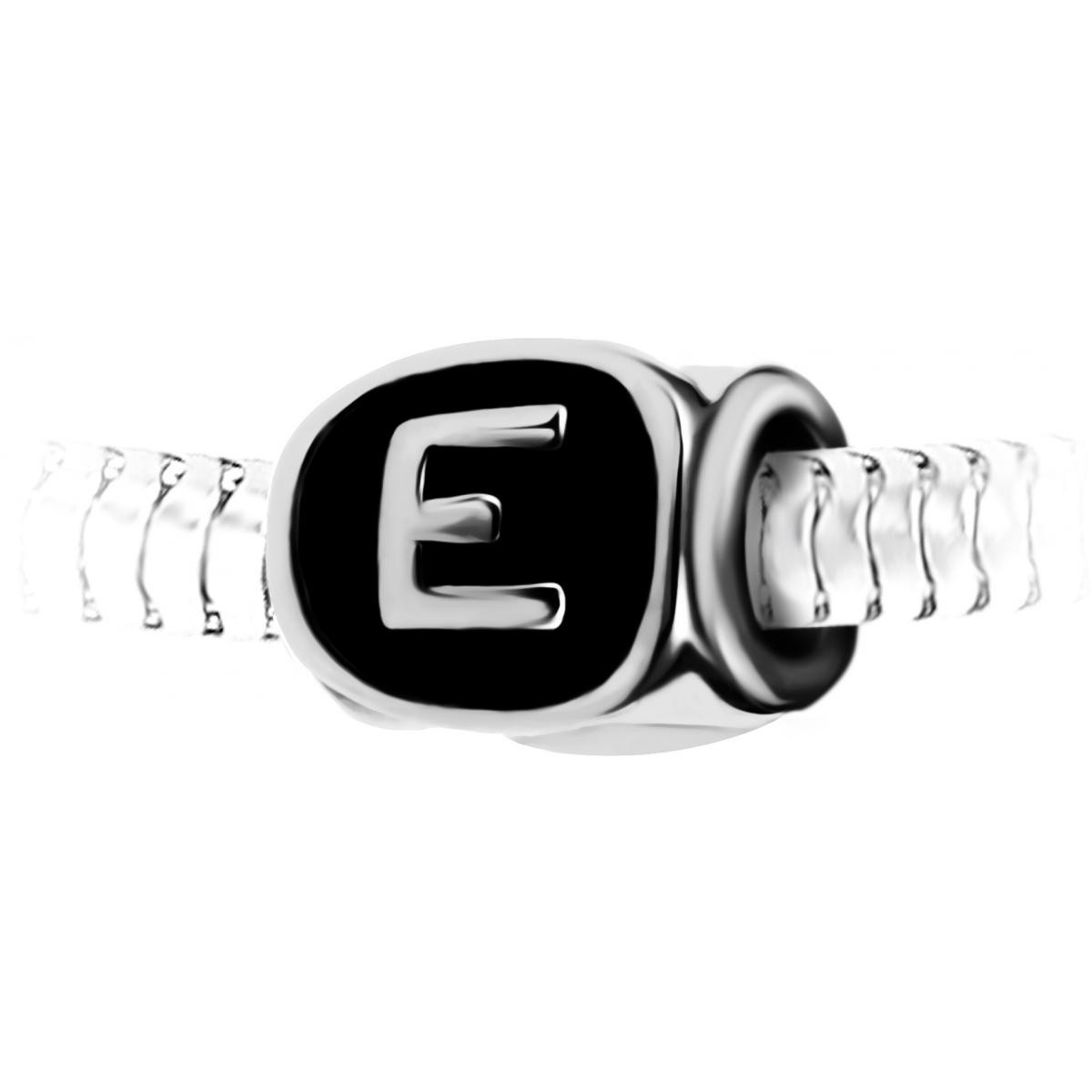 Charm perle lettre E en acier par SC Crystal - BEA0269-E - Modalova
