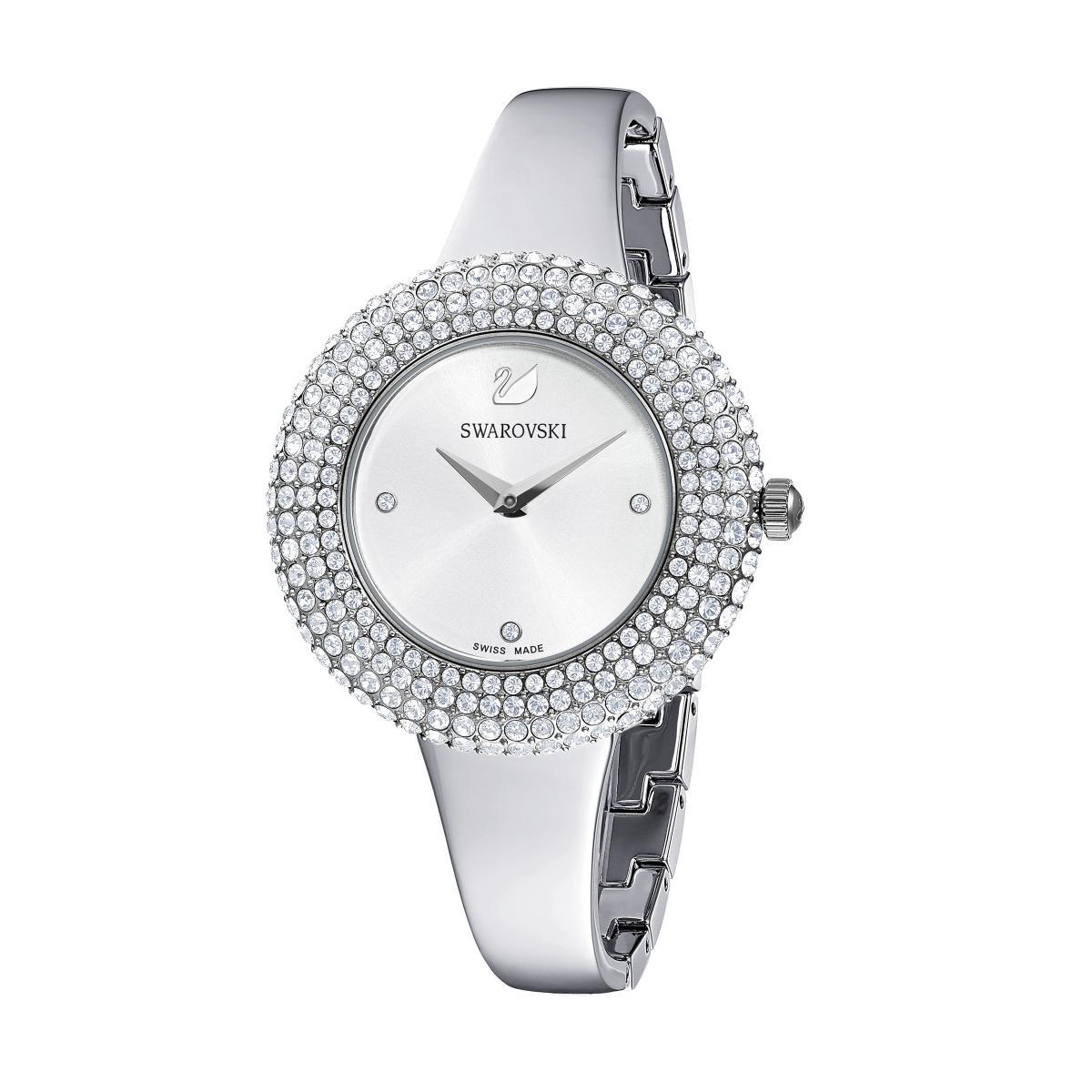 Montre Swarovski 5483853 - Crystal Rose Bracelet Jonc Acier é Lunette Sertie En Micro-Pavé - Swarovski montres - Modalova