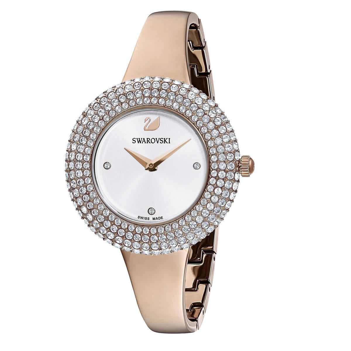 Montre Swarovski 5484073 - Crystal Rose Bracelet Jonc Acier Lunette Sertie En Micro-Pavé - Swarovski montres - Modalova