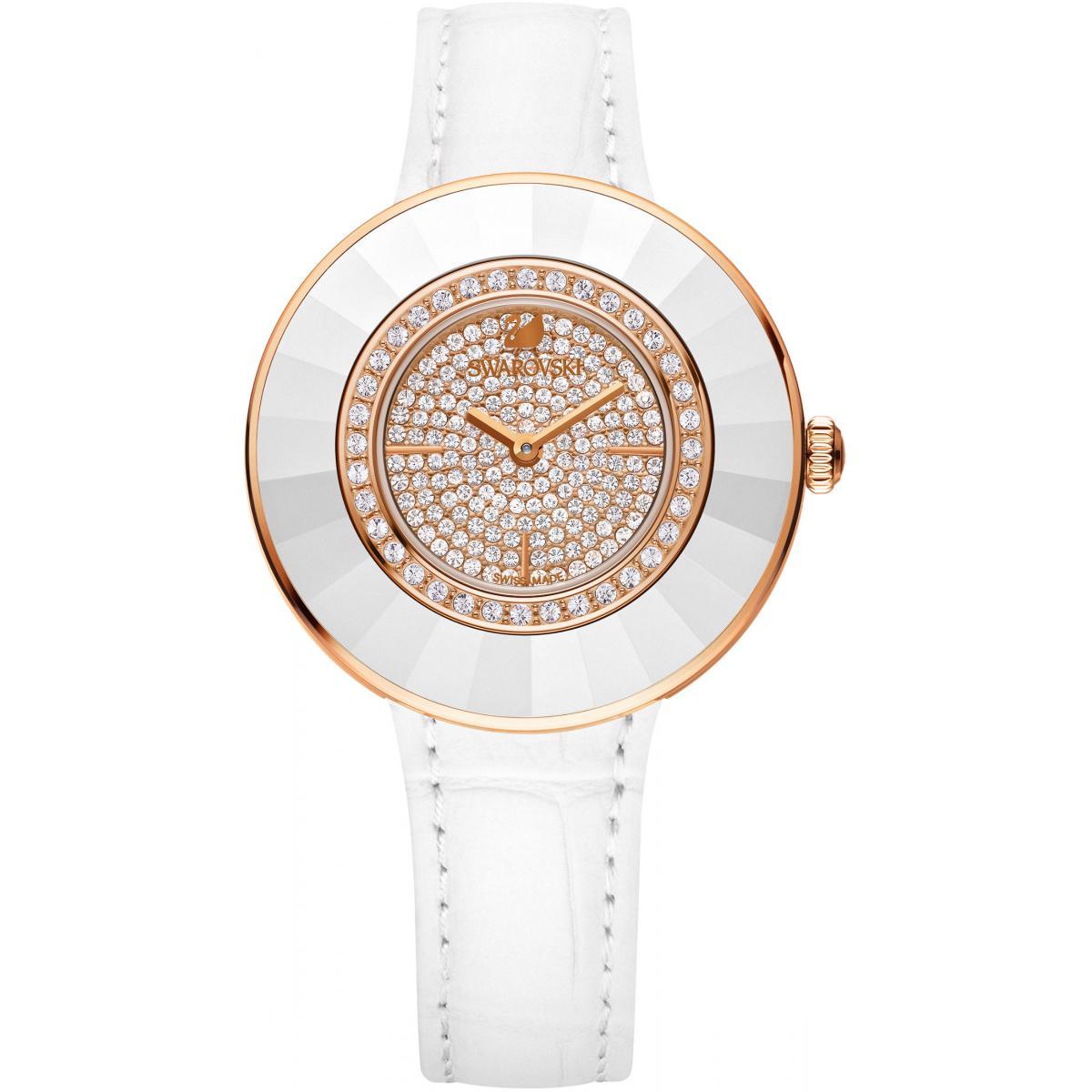 Montre Swarovski OCTEA 5095383 - Montre Blanche Ronde - Swarovski montres - Modalova