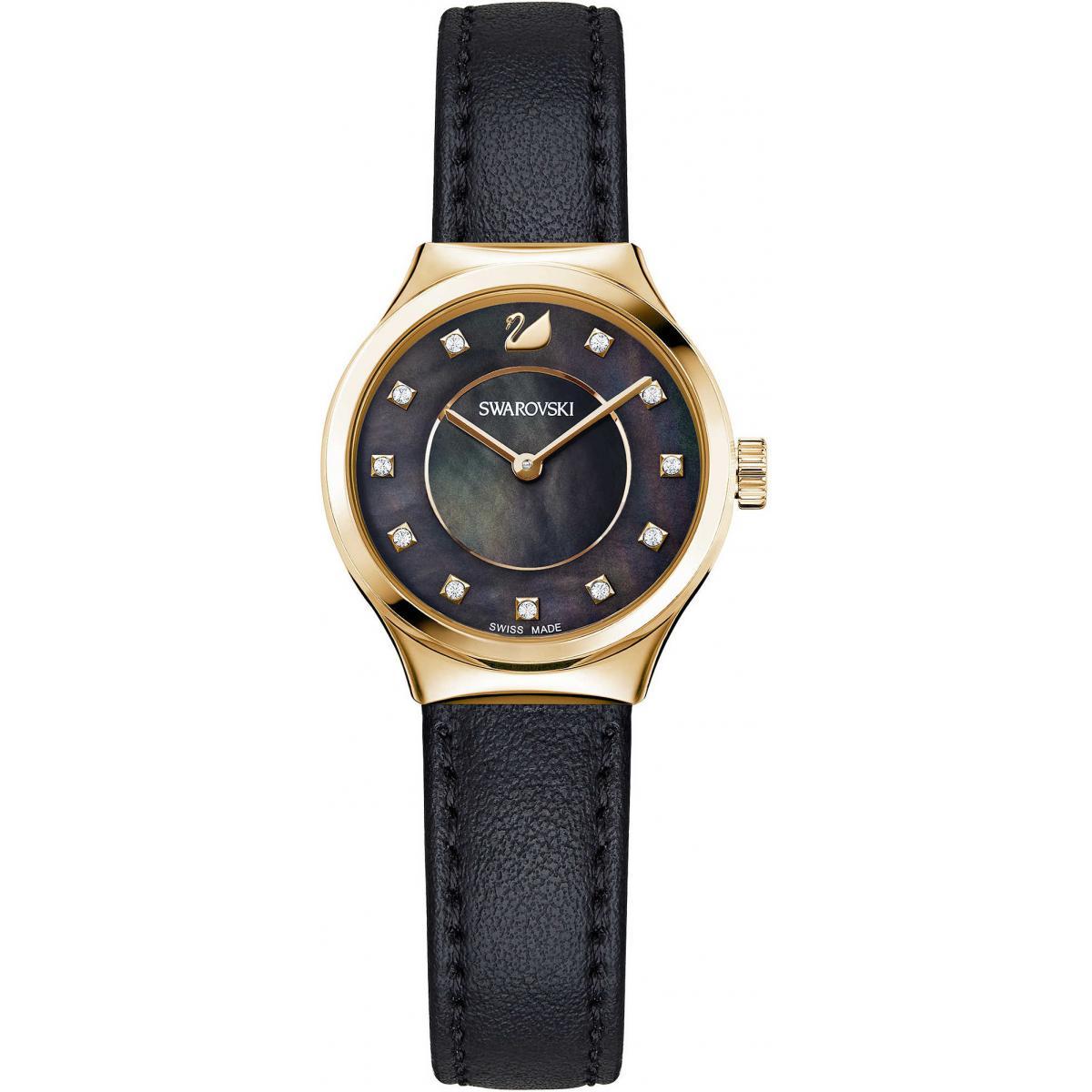 Montre Swarovski 5295340 - Montre Cristaux Cuir Or Rose - Swarovski montres - Modalova