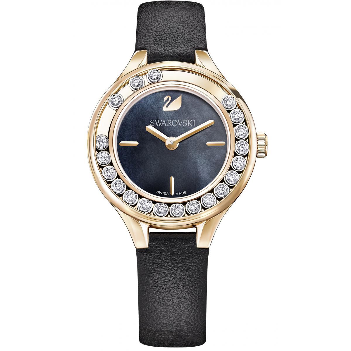 Montre Swarovski 5301877 - Montre Cristaux Cuir Violet - Swarovski montres - Modalova