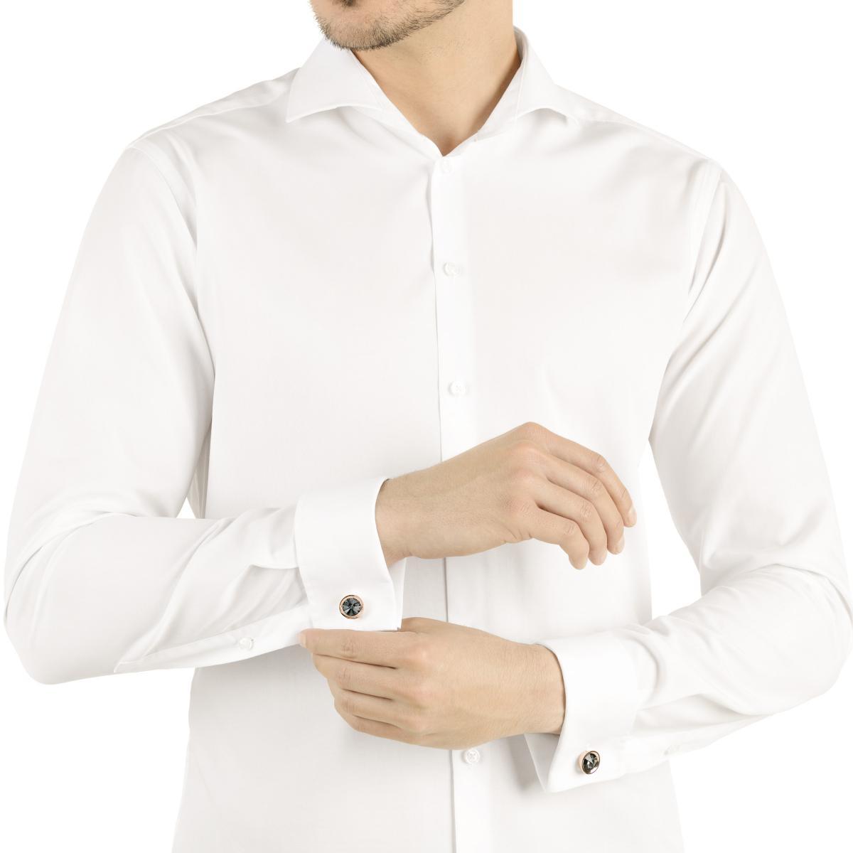 WSWSY Boutons De Manchette Homme Boutons de Manchette de en Nacre Accessoires de Bijoux Haut de Gamme Boutons de Manchette de Mariage pour Hommes