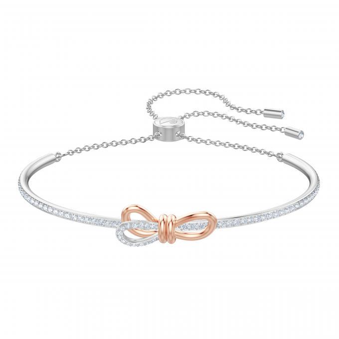 volume grand bas prix le plus populaire Bracelet Swarovski 5447079 - Bracelet Argenté Nœud Papillon ...