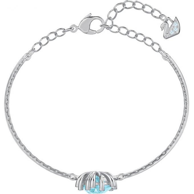 bracelet swarovski feuille argent