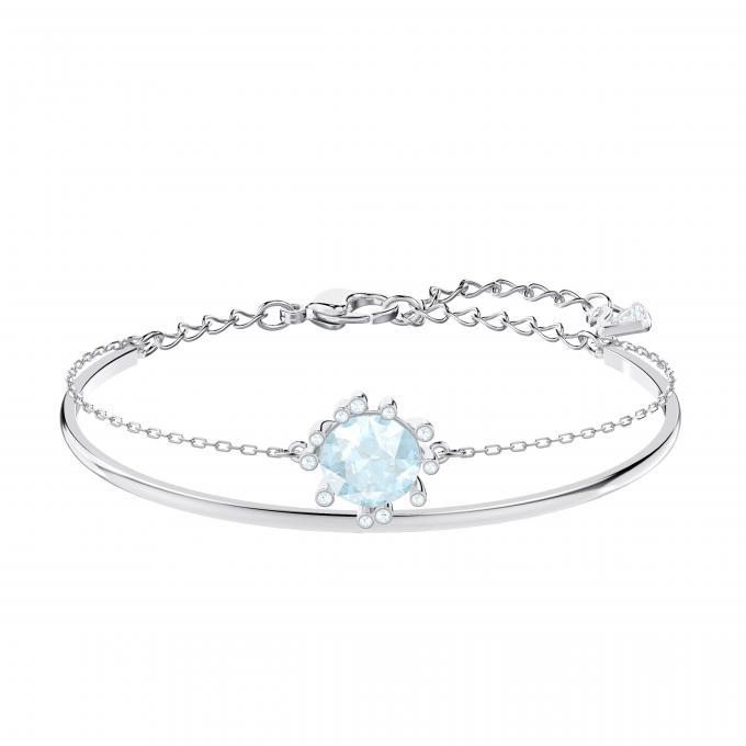Bracelet Swarovski 5479928 , Bracelet Argenté Pierre Bleue Ajustable Femme