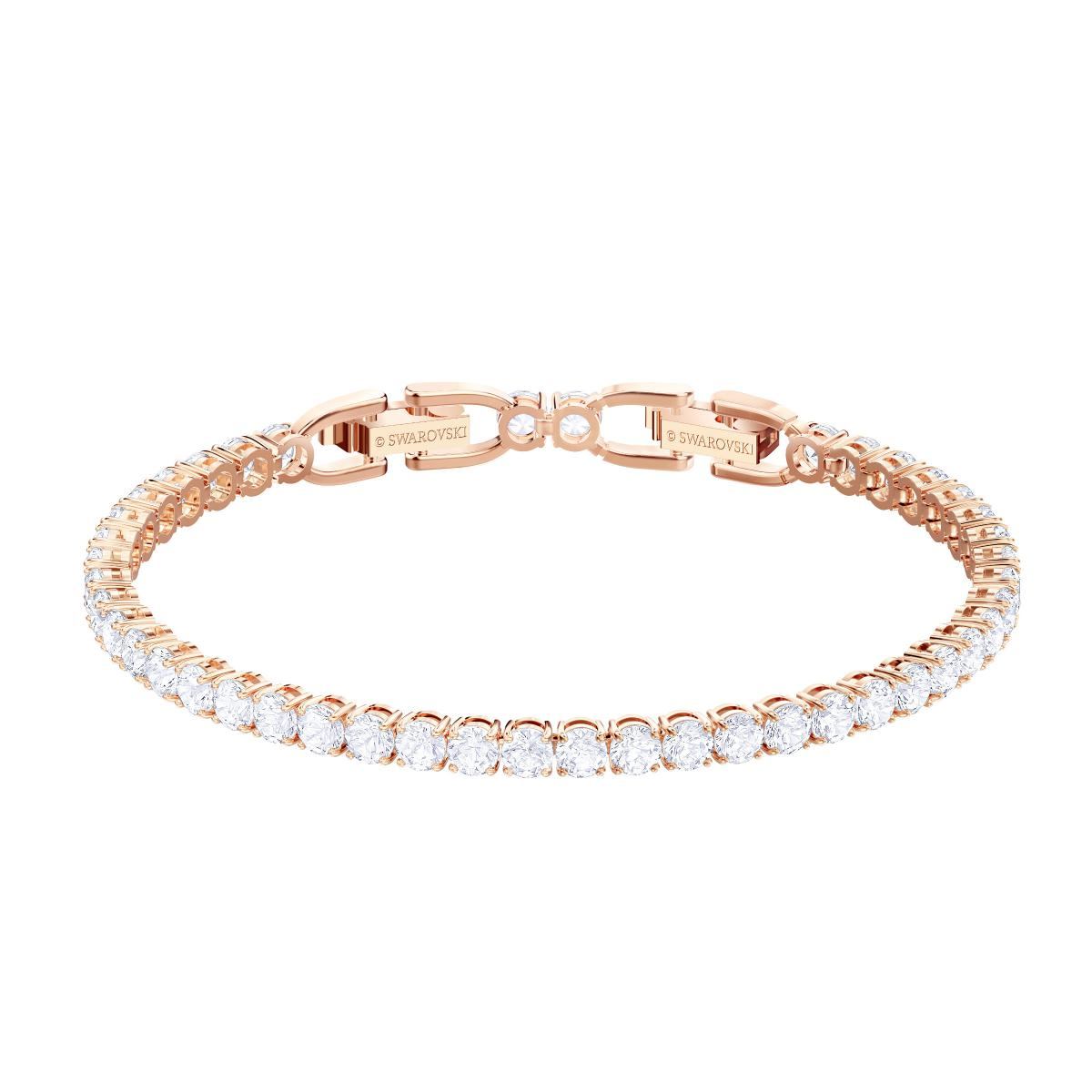 Bracelet Swarovski 5464948 - Bracelet Timeless Elegance Doré Rose Cristaux  Blancs Femme
