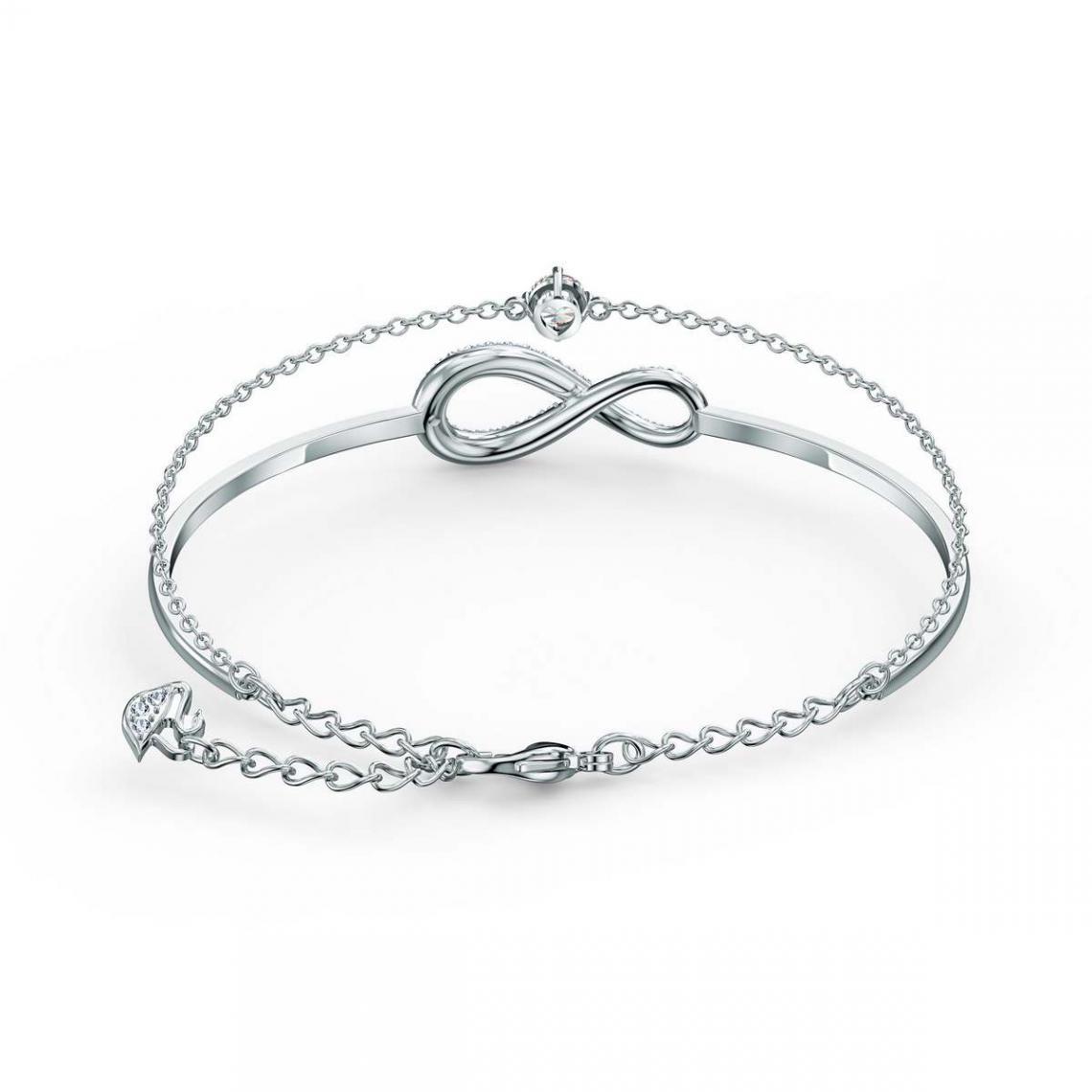 Bracelet Swarovski 5520584 - Bracelet argenté infini Femme | 3 SUISSES
