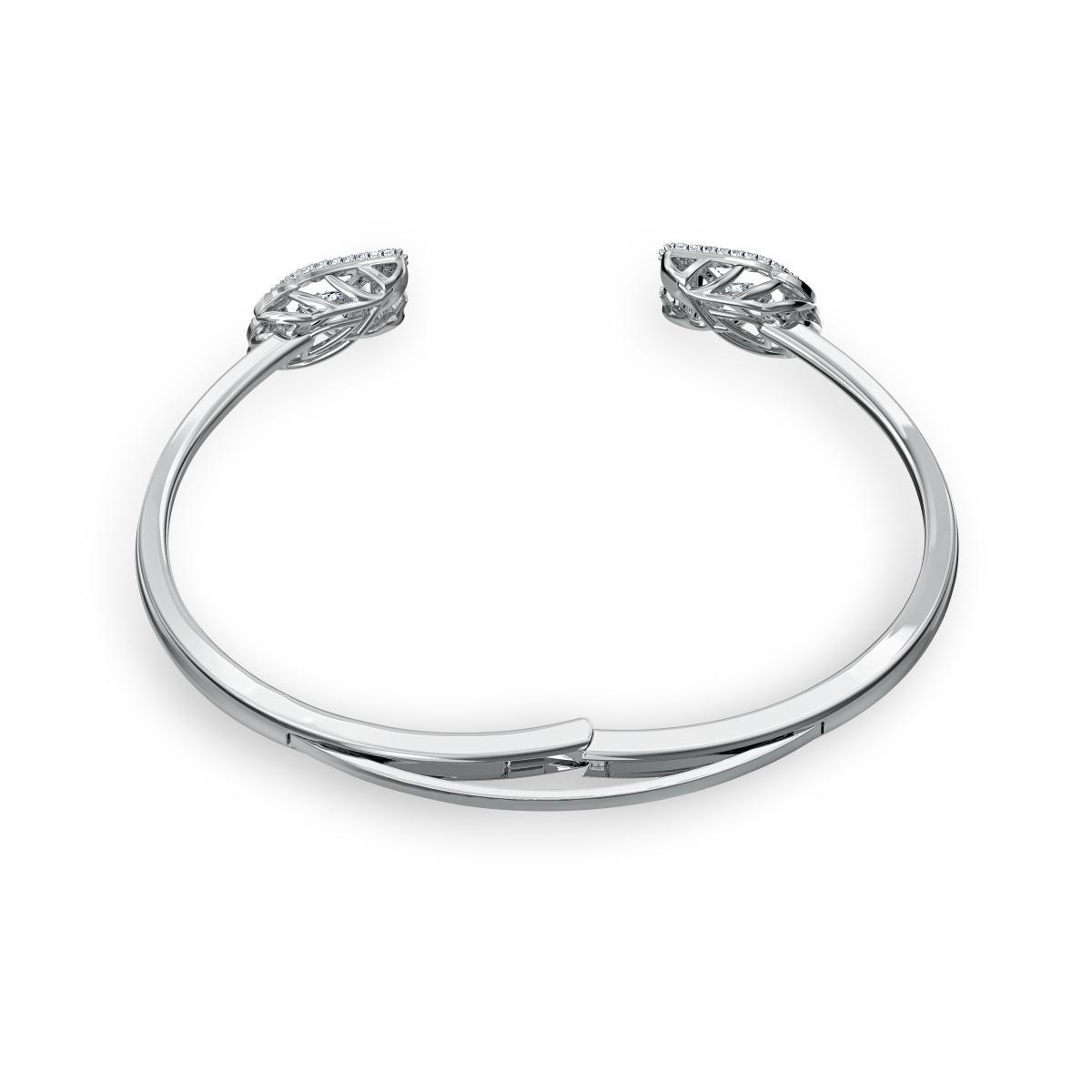 BRACELET Swarovski 5534849 - Bracelet Métal Argenté Cygne Strass blanc Femme