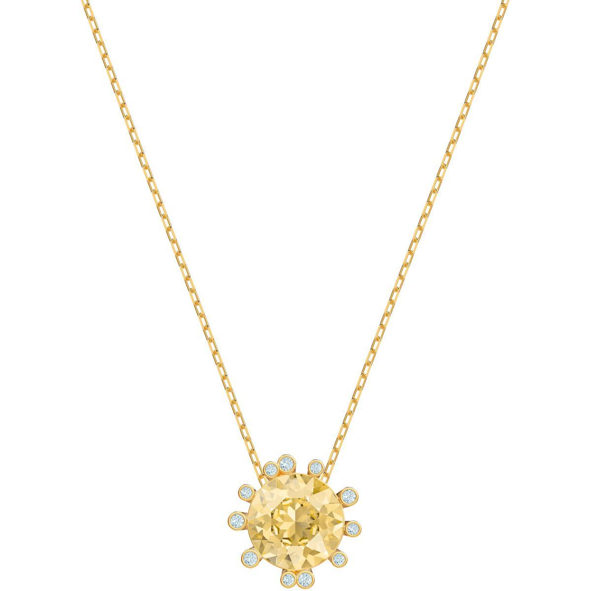 Collier et pendentif Swarovski 5460988 - Collier et pendentif Fleur D'Eclat  Jaune Femme