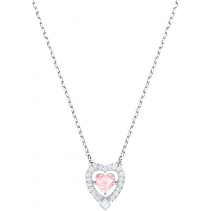 sortie de gros comment trouver prix le moins cher Collier et pendentif Swarovski 5465284 - Collier et pendentif Argenté Cœur  Rose Femme