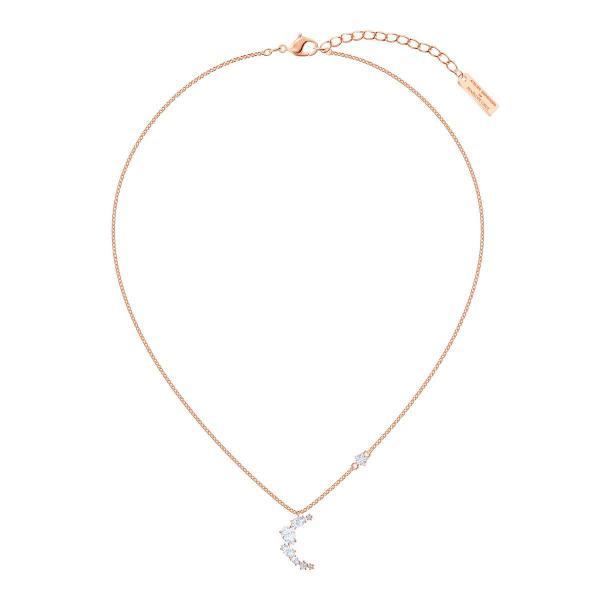 Collier et pendentif Swarovski 5486357 - Collier et pendentif Demi-Lune  Doré Rose Femme