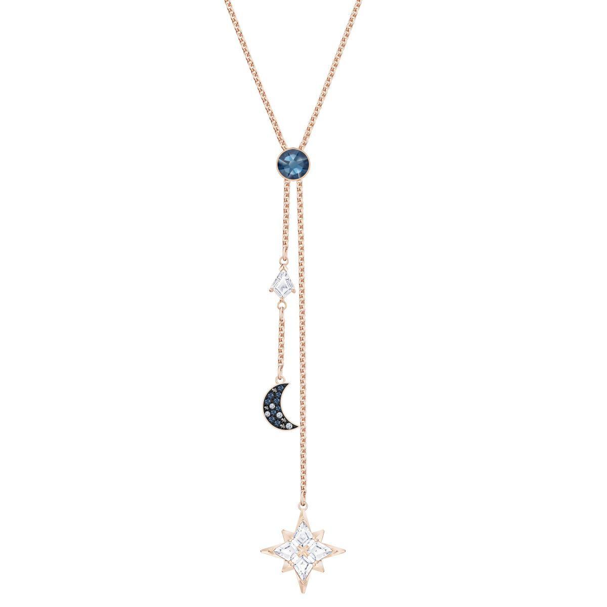 Collier et pendentif Swarovski 5494357 - Métal Doré Rose Thème Nuit  Cristaux Étincelants Femme