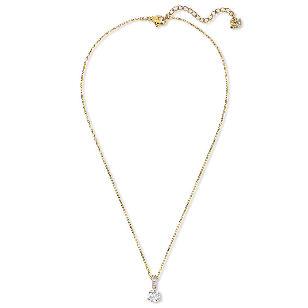 Collier Swarovski 5511557 - Collier métal rhodié or cristal blanc Femme