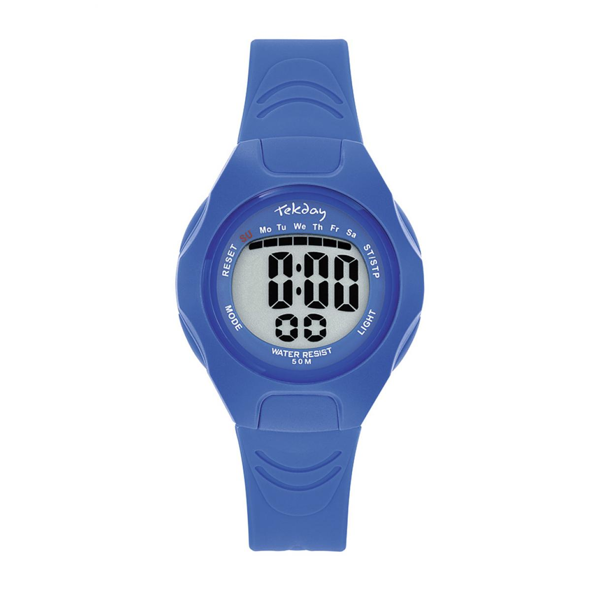 Montre 654664 - Bracelet Silicone Bleu Boitier Silicone Bleu - Tekday - Modalova