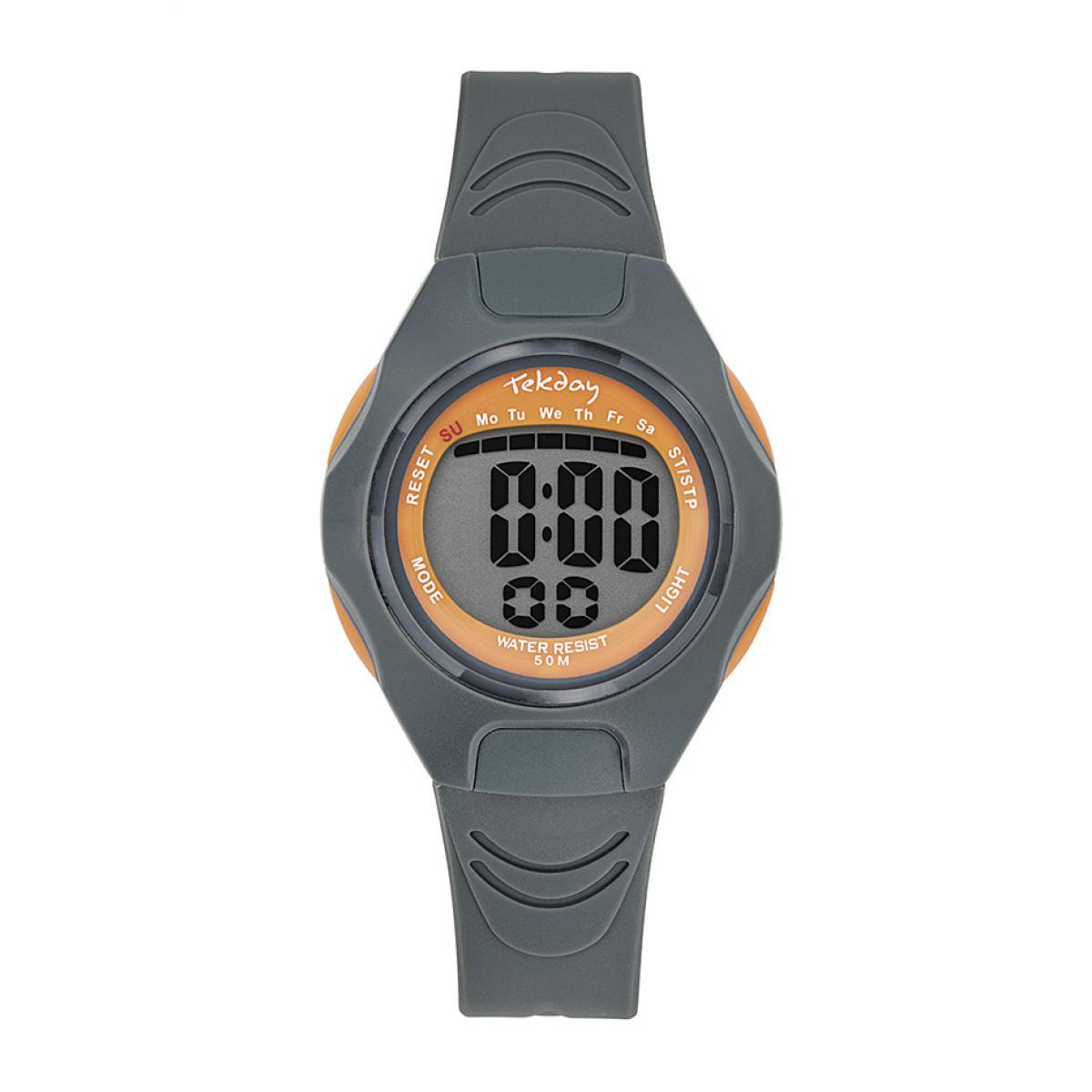 Montre 654665 - Bracelet Silicone Gris Boitier Silicone Gris - Tekday - Modalova