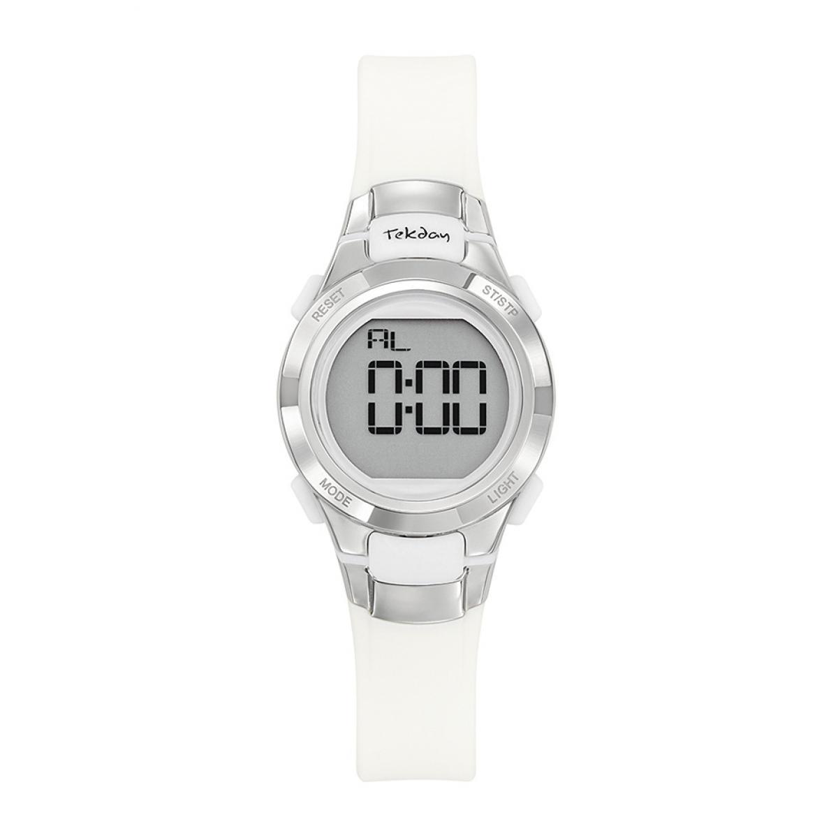 Montre 654666 - Bracelet Silicone Blanc Boitier Silicone Blanc - Tekday - Modalova