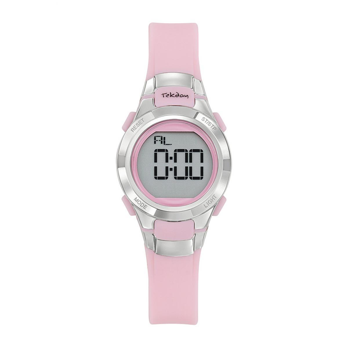 Montre 654667 - Bracelet Silicone Rose Boitier Silicone Rose - Tekday - Modalova