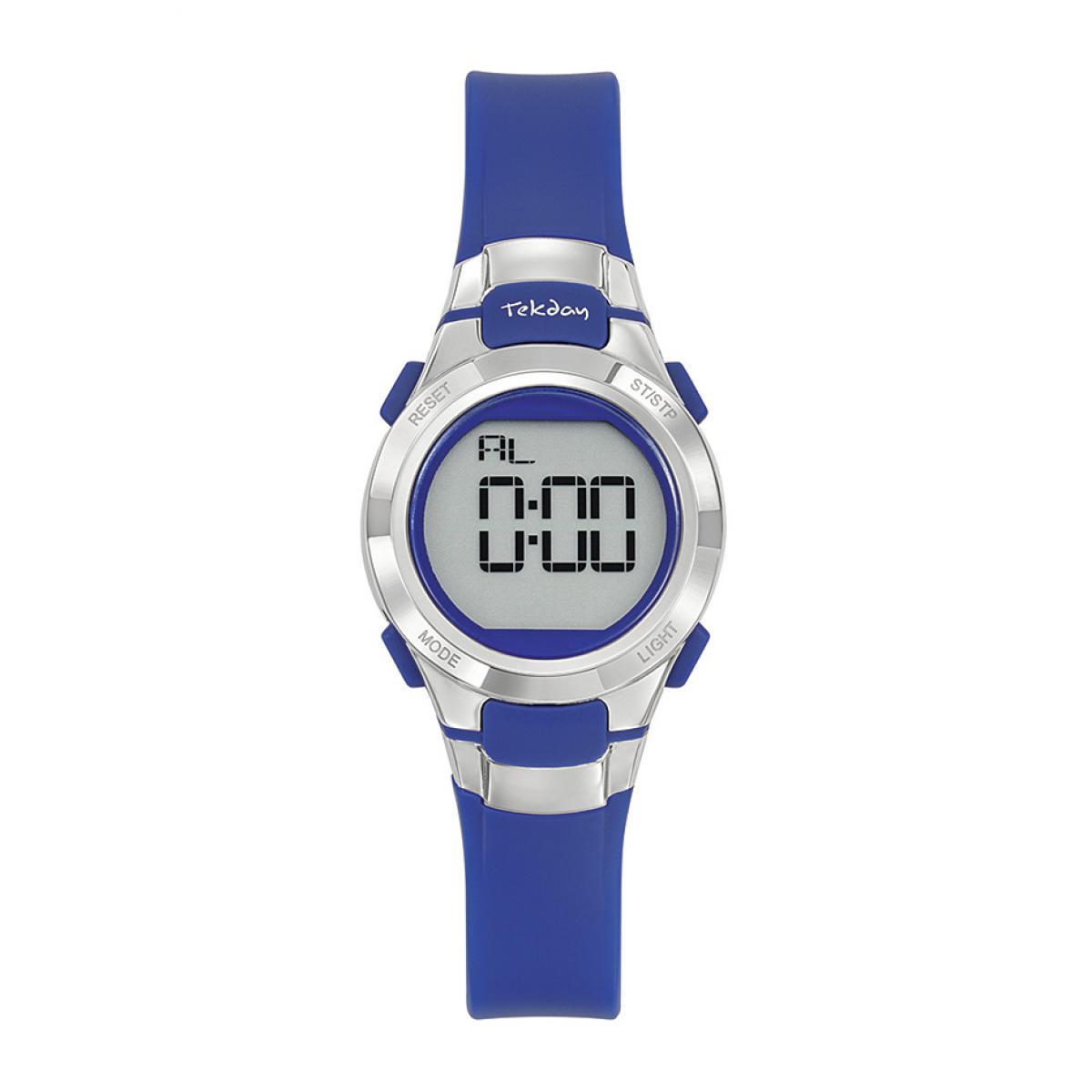 Montre 654668 - Bracelet Silicone Bleu Boitier Silicone Bleu - Tekday - Modalova