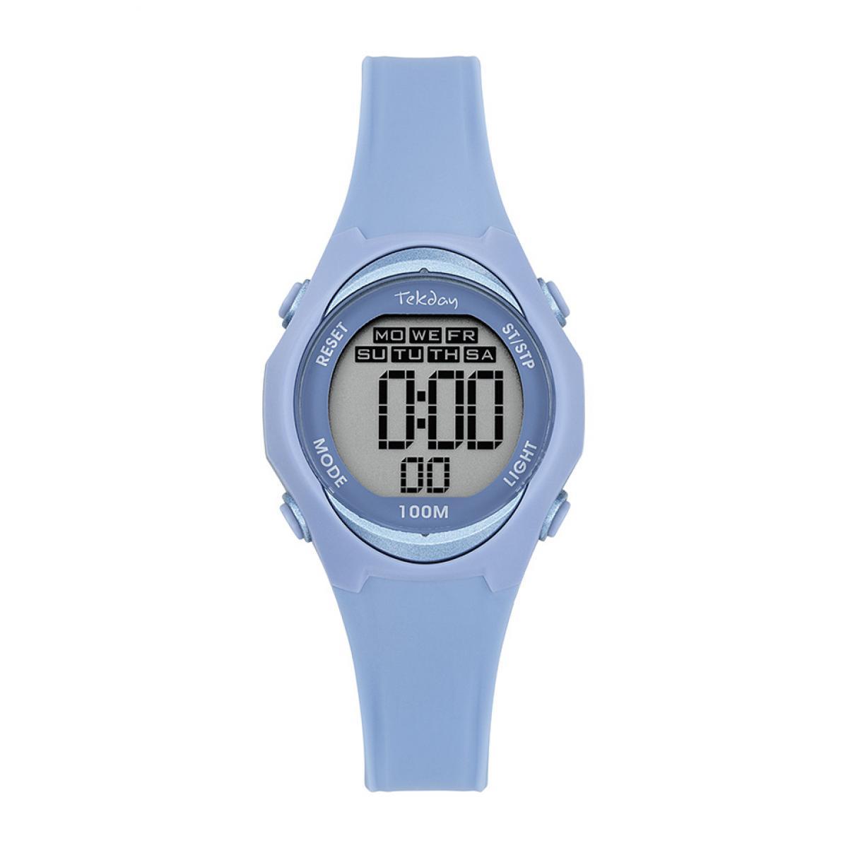Montre 654669 - Bracelet Silicone Bleu Boitier Silicone Bleu - Tekday - Modalova