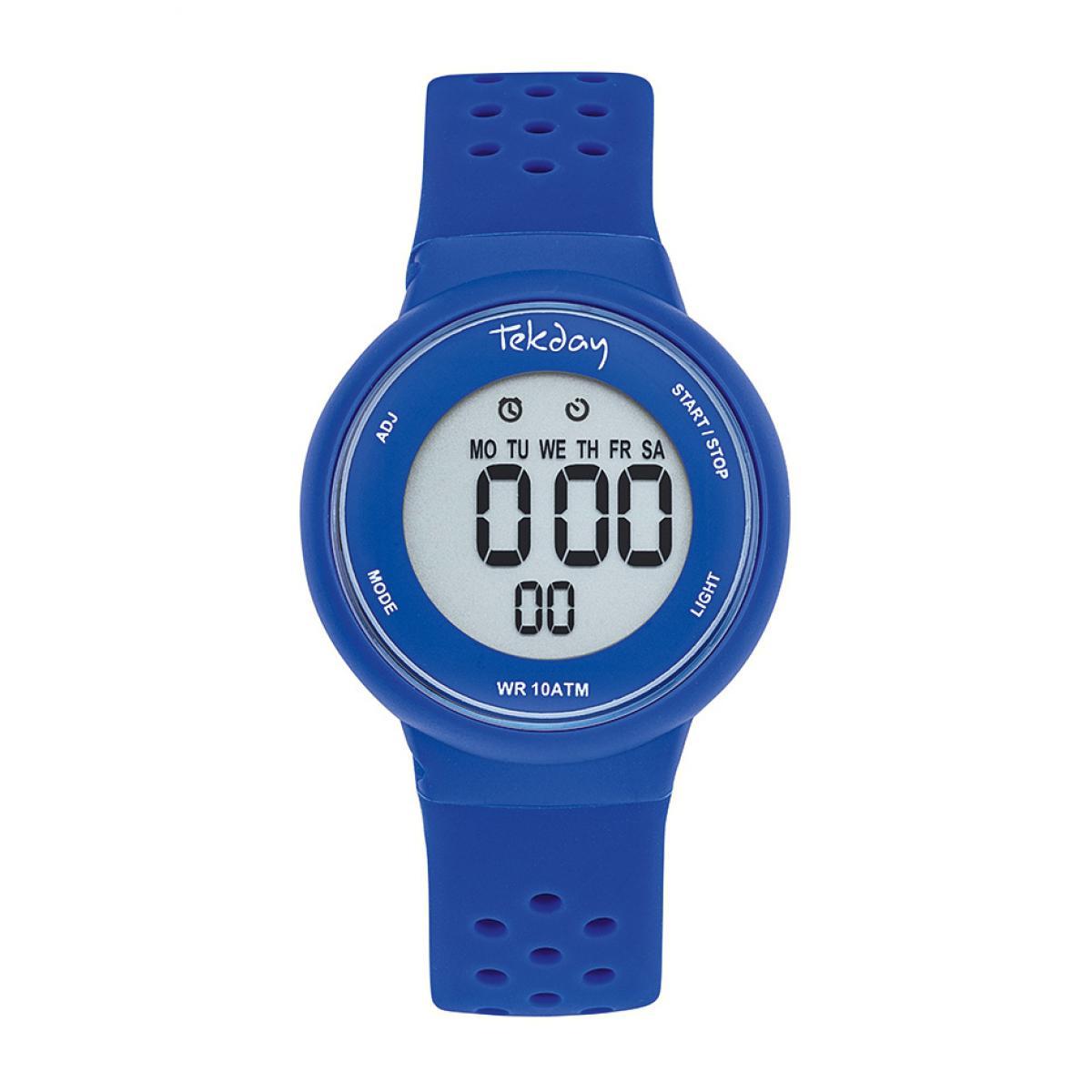 Montre 654684 - Montre Boîtier Silicone Bleu Bracelet Silicone Bleu - Tekday - Modalova