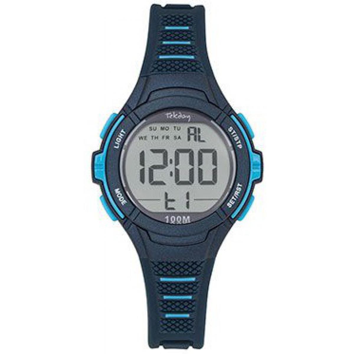 Montre Junior 654661 - Bracelet Silicone Bleu Boitier Silicone Bleu - Tekday - Modalova