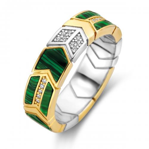 Ti Sento - Bague Ti Sento Malachite Lights 12202MA - Bijoux femme