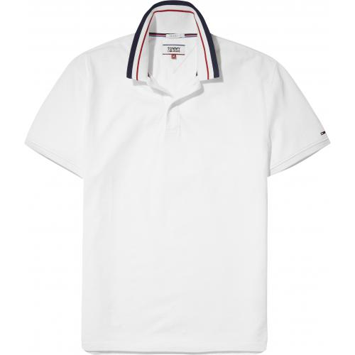Tommy Jeans - Polo manches courtes homme Tommy Jeans - Blanc - Polos homme