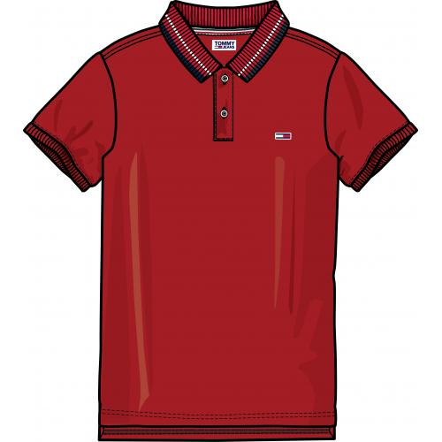 Tommy Jeans - Polo manches courtes homme Tommy Jeans - Rouge - T-shirt / Polo
