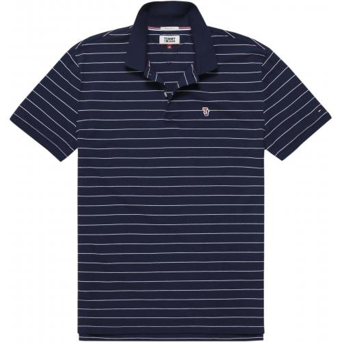 Tommy Jeans - Polo rayé manches courtes homme Tommy Jeans - Bleu - T-shirt / Polo
