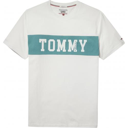 Tommy Jeans - T-shirt manches courtes homme Tommy Jeans - Blanc - T-shirt / Polo
