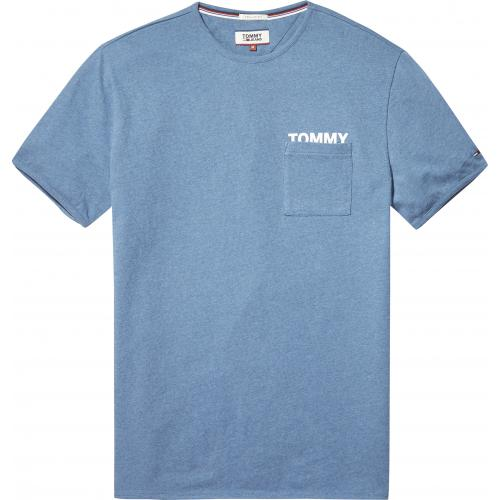 Tommy Jeans - T-shirt manches courtes homme Tommy Jeans - Bleu - T-shirt / Polo