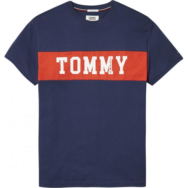 T-shirt manches courtes homme Tommy Jeans - Bleu Tommy Jeans Homme