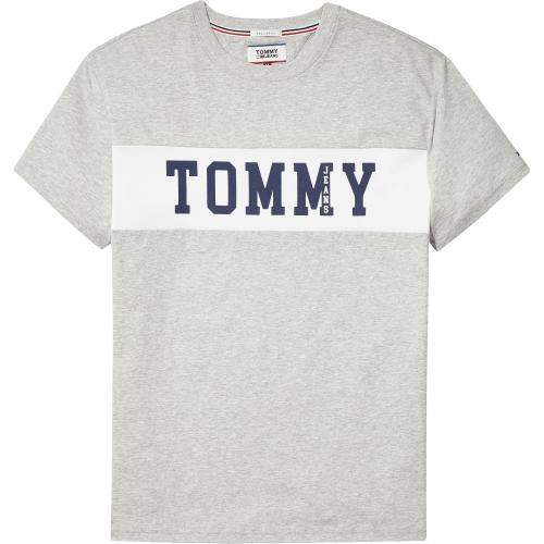Tommy Jeans - T-shirt manches courtes homme Tommy Jeans - Gris - T-shirt / Polo