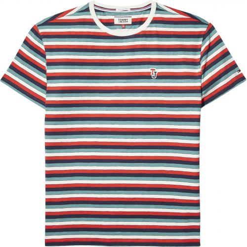 Tommy Jeans - T-shirt rayé manches courtes homme Tommy Jeans - Multicolore - T-shirt / Polo