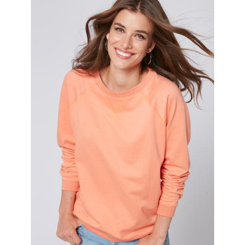 Venca - Sweat manches longues finitions bords-côtes femme - Sweat femme